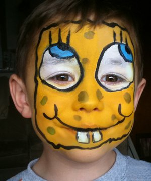 Yellow Spiderman Face Paint